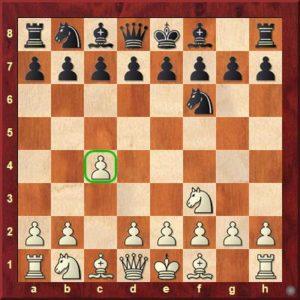 peon c4 amenaza d5, controlando el centro